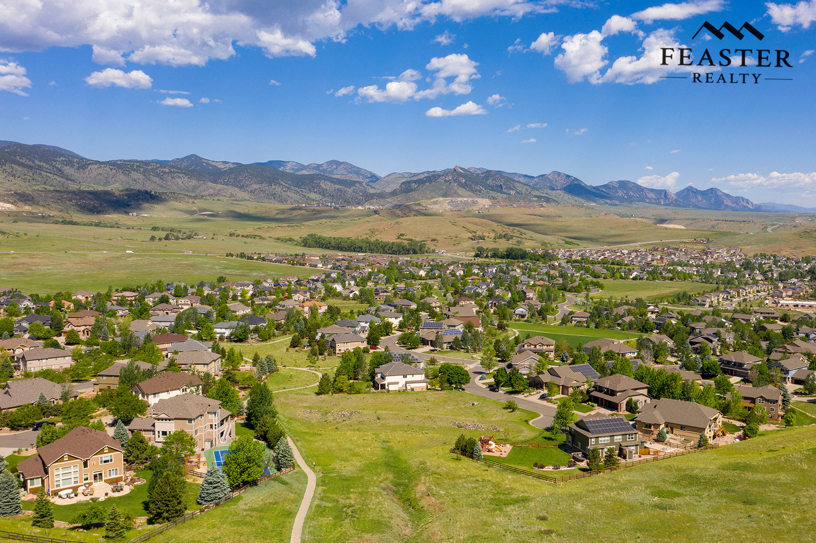 Tablerock Golden CO - Aerial View of Neighborhood