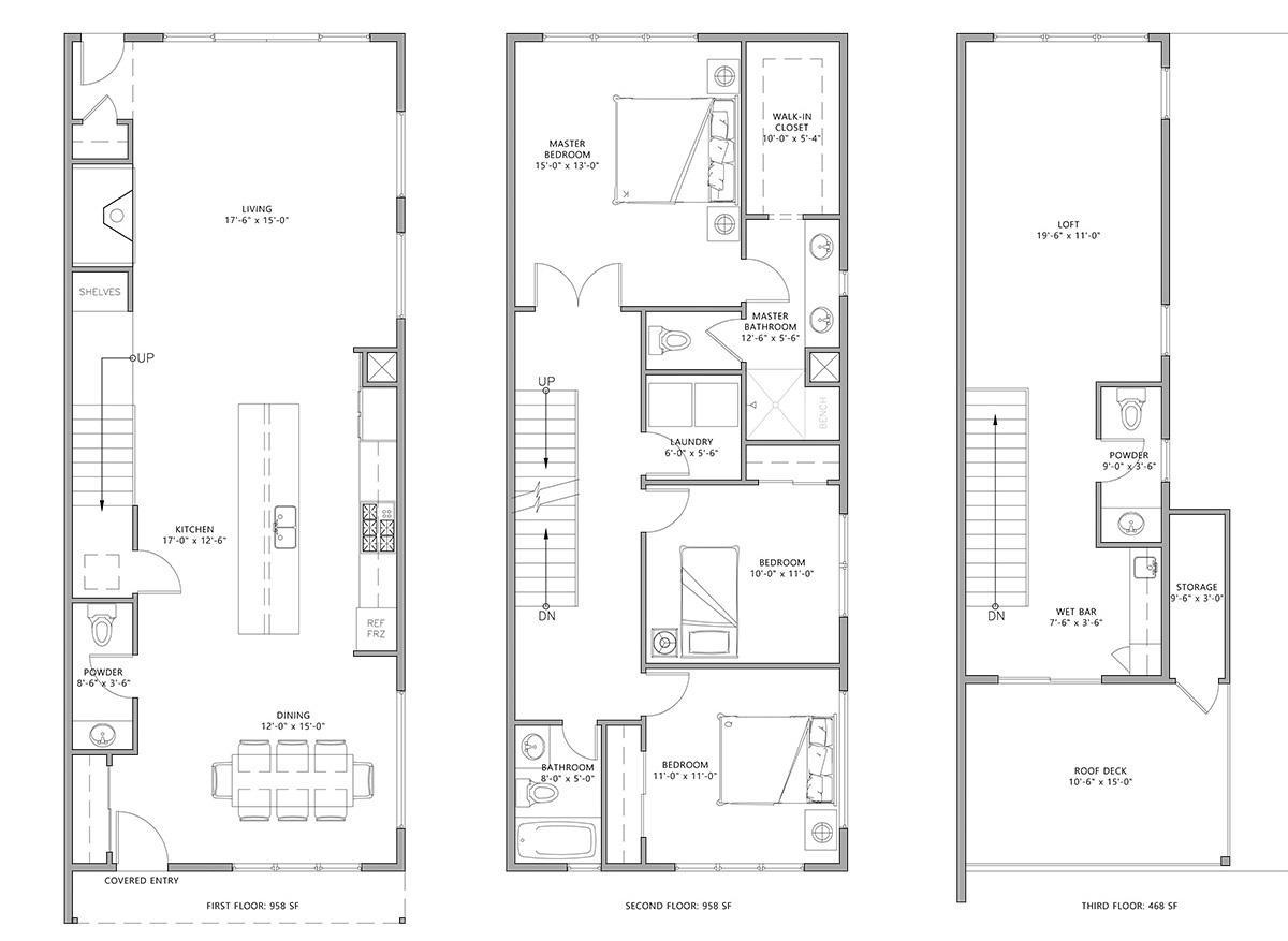 Floor Plans - 4544 Stuart St Denver Duplex