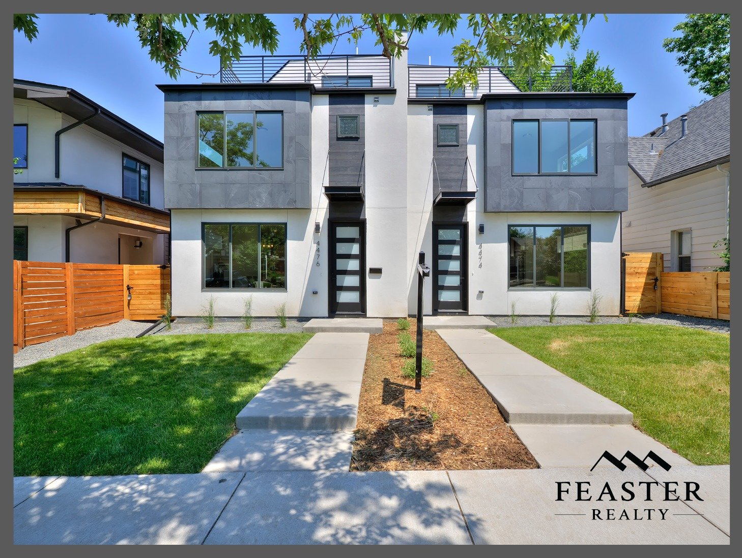 New Modern Duplex For Sale in Denver's Berkeley Neighborhood