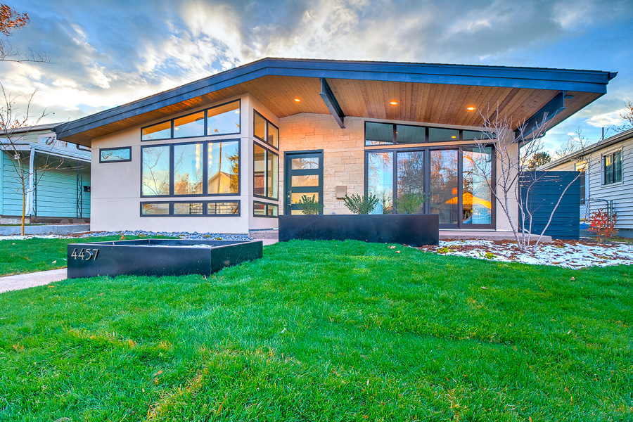 Custom Build Mid Century Modern Home Exterior
